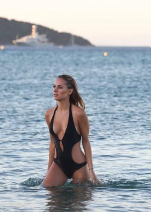 Kimberley Garner in Black Bikini -28