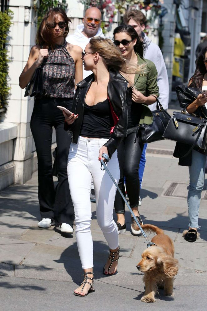 Kimberley Garner With Her Dog out in London