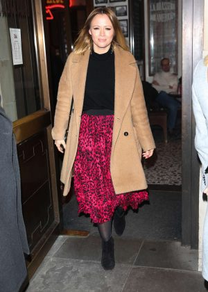Kimberley Walsh - Arrives at Gaby Roslin special Christmas show in London