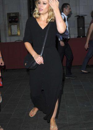 Kimberley Walsh in Long Black Dress - Out in Soho