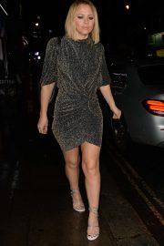 Kimberley Walsh - Leaving Bagatelle in Mayfair
