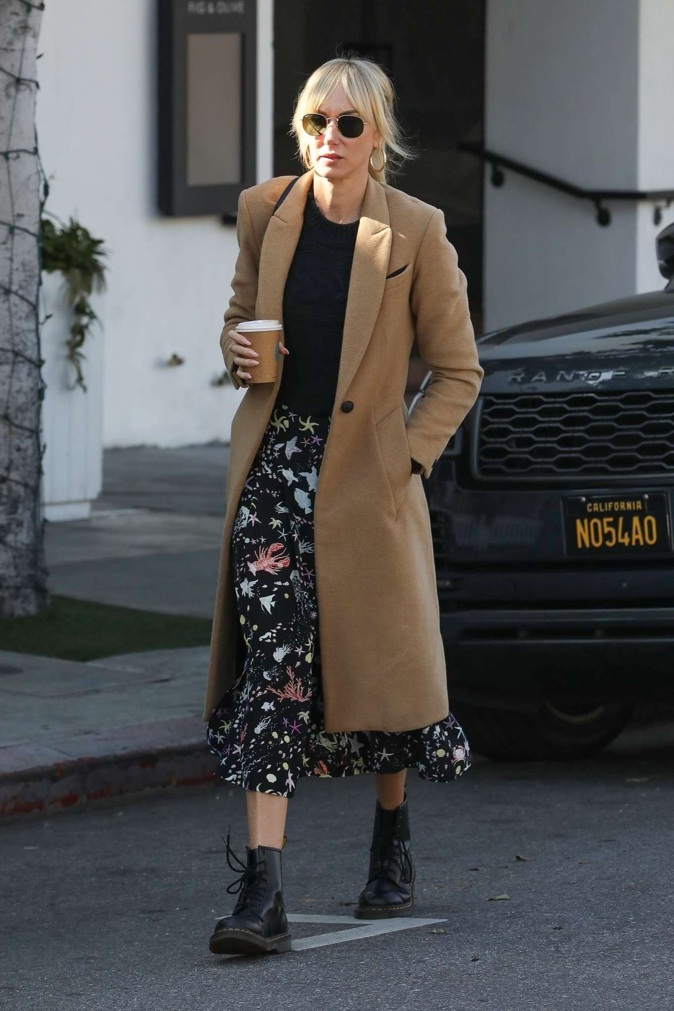 Kimberly Stewart 2020 : Kimberly Stewart in Brown Coat – Out in LA-01