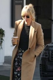 Kimberly Stewart in Brown Coat - Out in LA