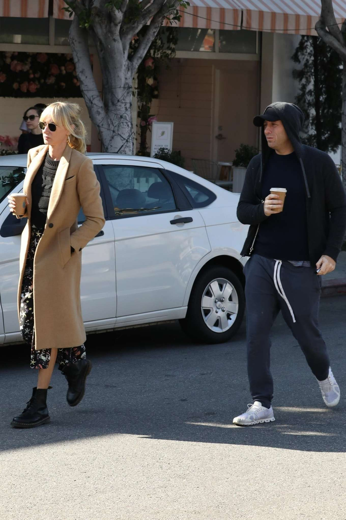 Kimberly Stewart 2020 : Kimberly Stewart in Brown Coat – Out in LA-09