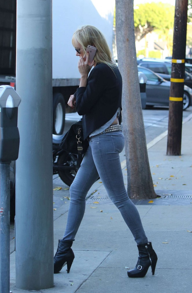 Kimberly Stewart Booty in Jeans Out in LA