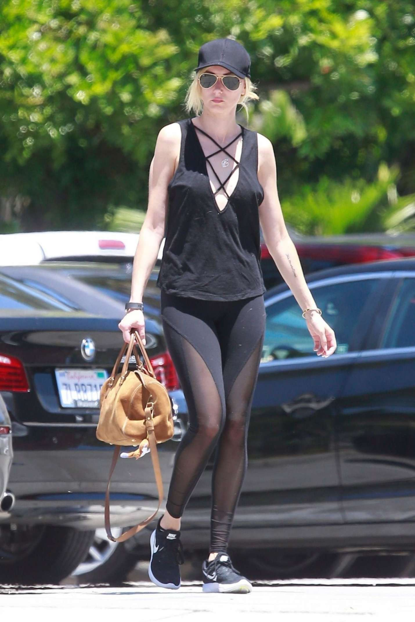 Kimberly Stewart in Tights Out in Studio City