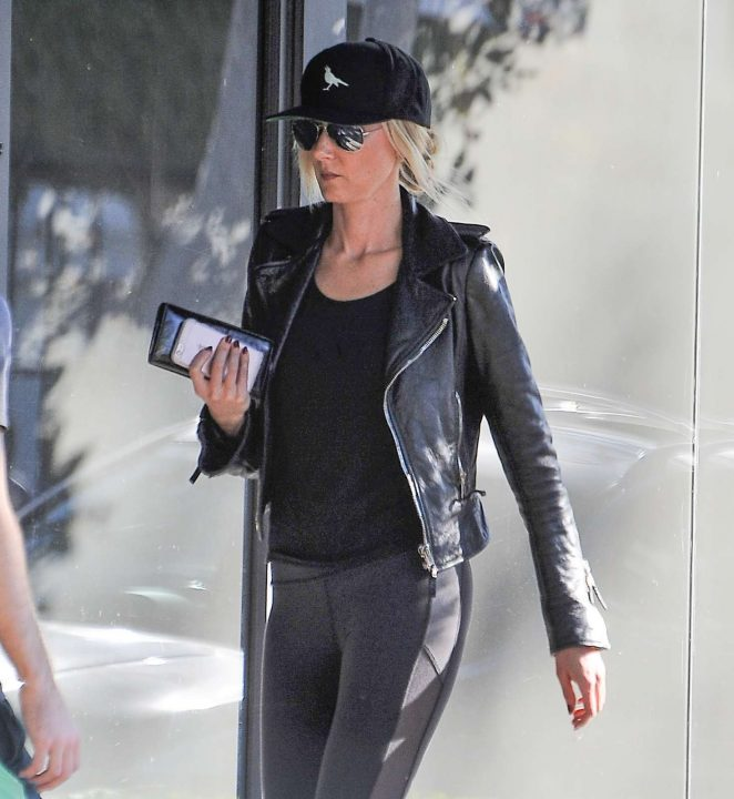 Kimberly Stewart out in Beverly Hills