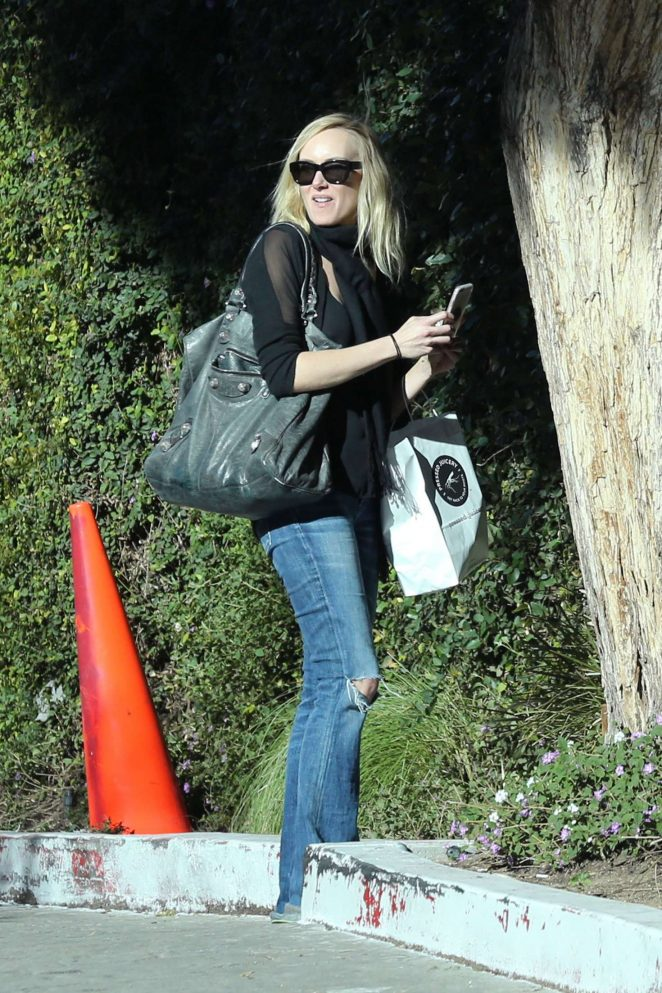 Kimberly Stewart out in Studio City