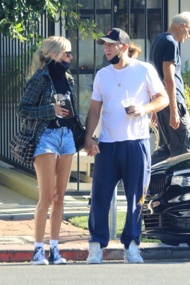 Kimberly Stewart - With boyfriend Jesse Shapira seen holding hands in West Hollywood