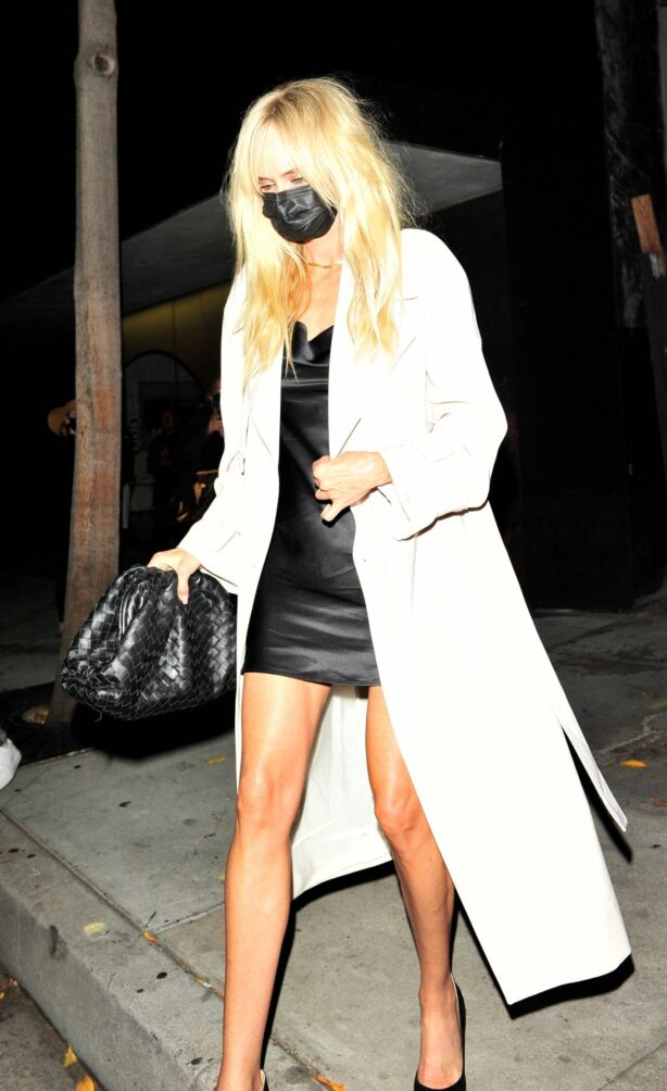 Kimberly Stewart - With her boyfriend pictured at Craig's in West Hollywood
