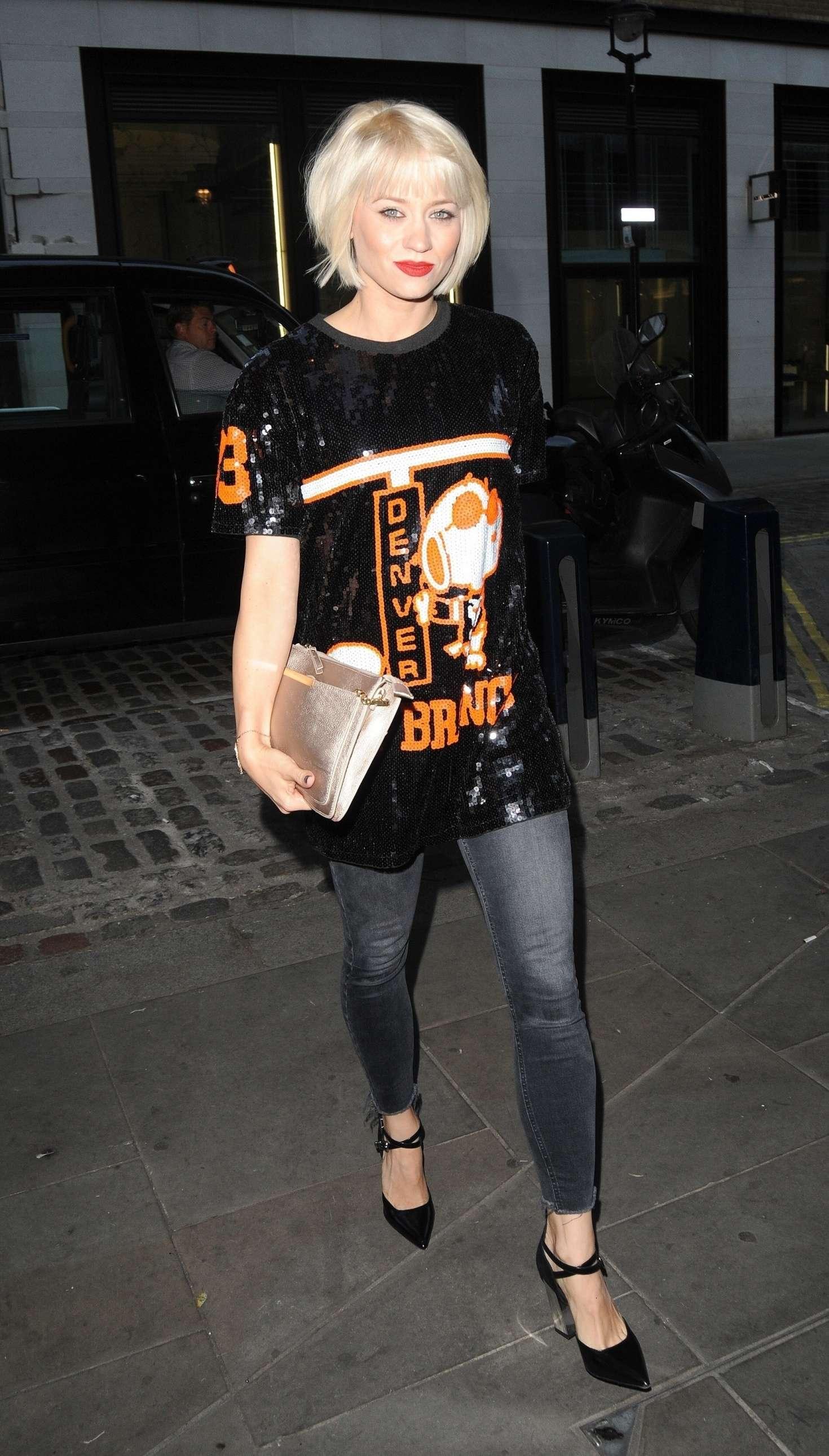 Kimberly Wyatt at The Ivy Soho in London