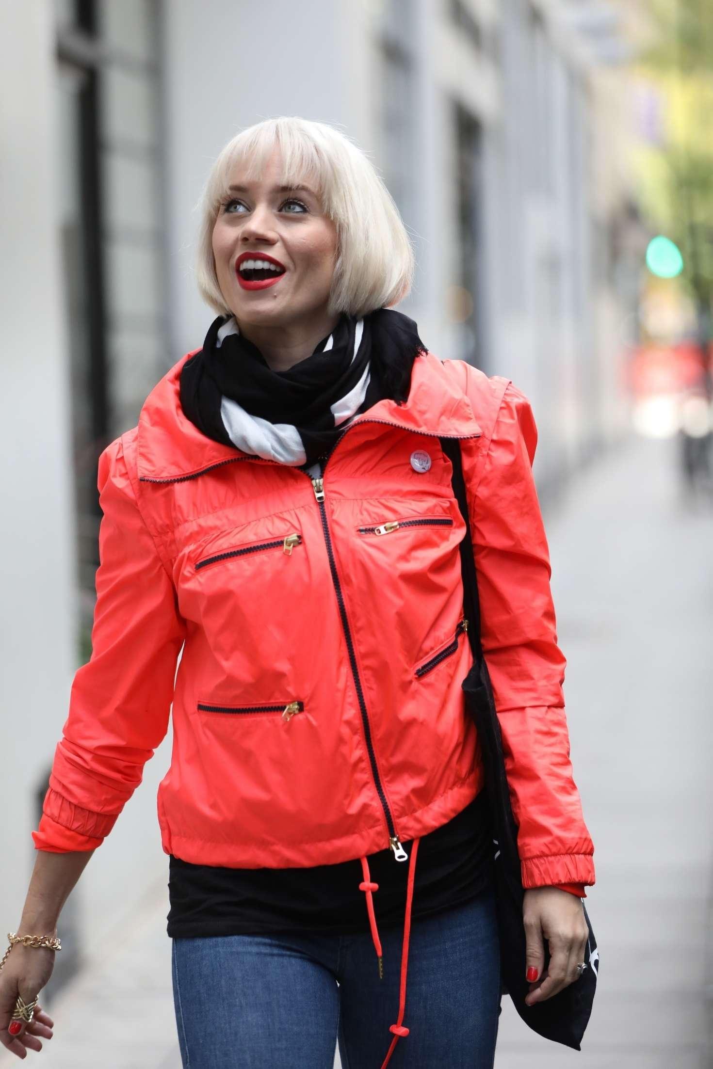 Kimberly Wyatt 2018 : Kimberly Wyatt in Red Jacket -08