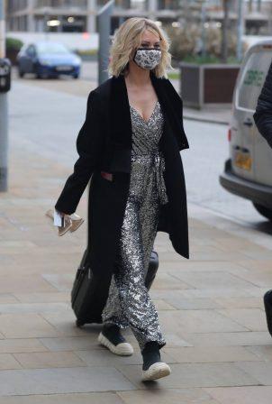 Kimberly Wyatt - Seen arriving at Dock 10 Studios in Media City Salford