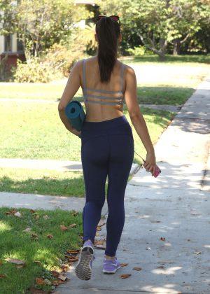Kira Kosarin in Tights and Sports Bra on Yoga Class in ...