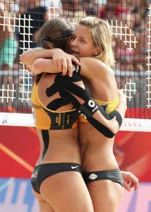 Kira Walkenhorst and Laura Ludwig - Beach Volleyball World Championships in Vienna