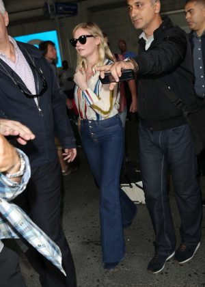 Kirsten Dunst Arrives at Nice airport in Cannes