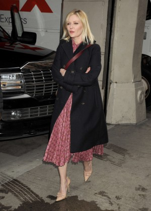 Kirsten Dunst - Arriving at AOL Studios in NYC