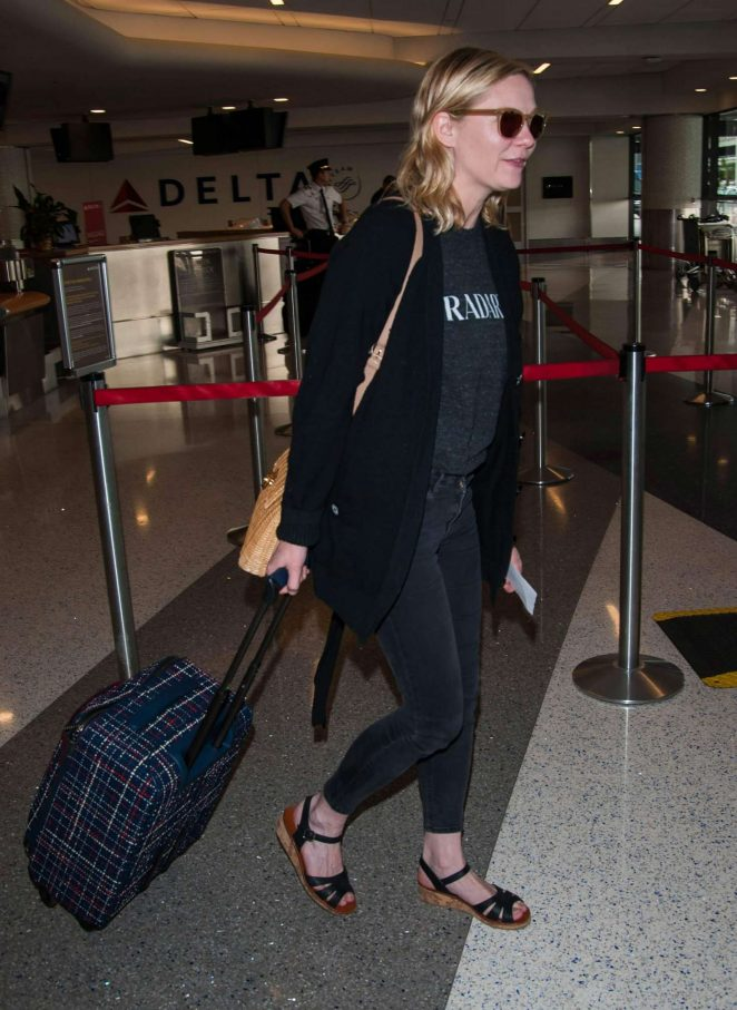 Kirsten Dunst at LAX airport -06