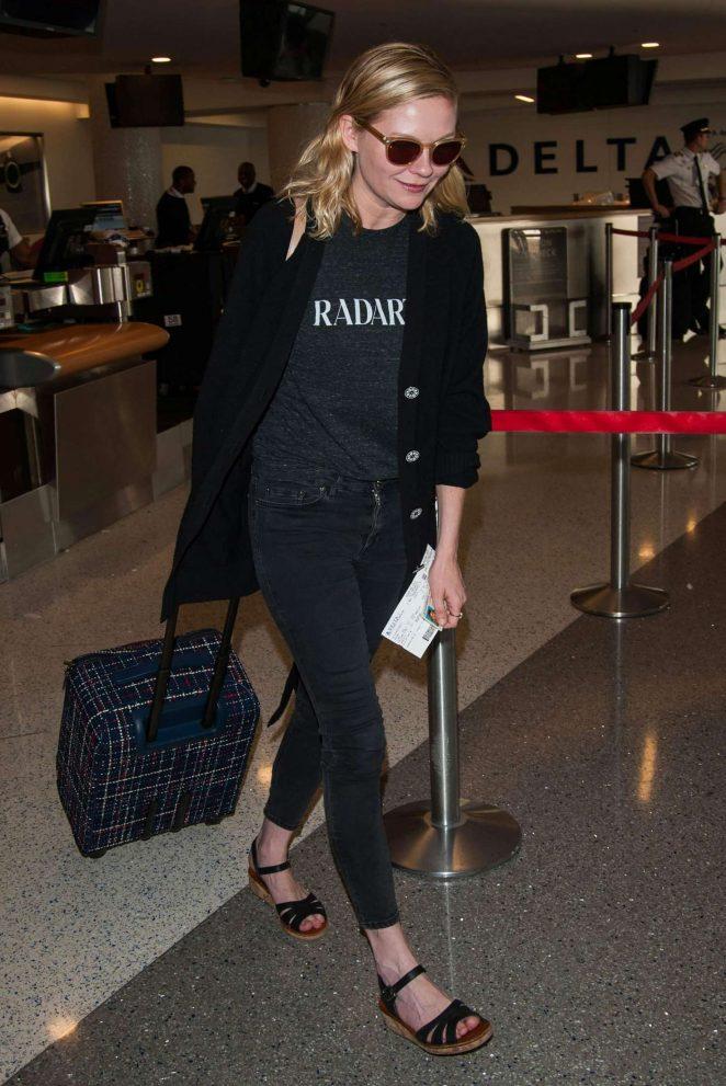 Kirsten Dunst at LAX airport -07