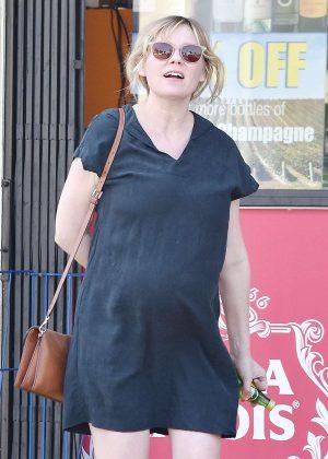Kirsten Dunst at liquor store in Los Angeles