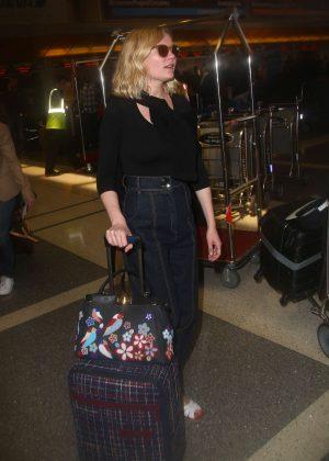 Kirsten Dunst at Los Angeles International Airport