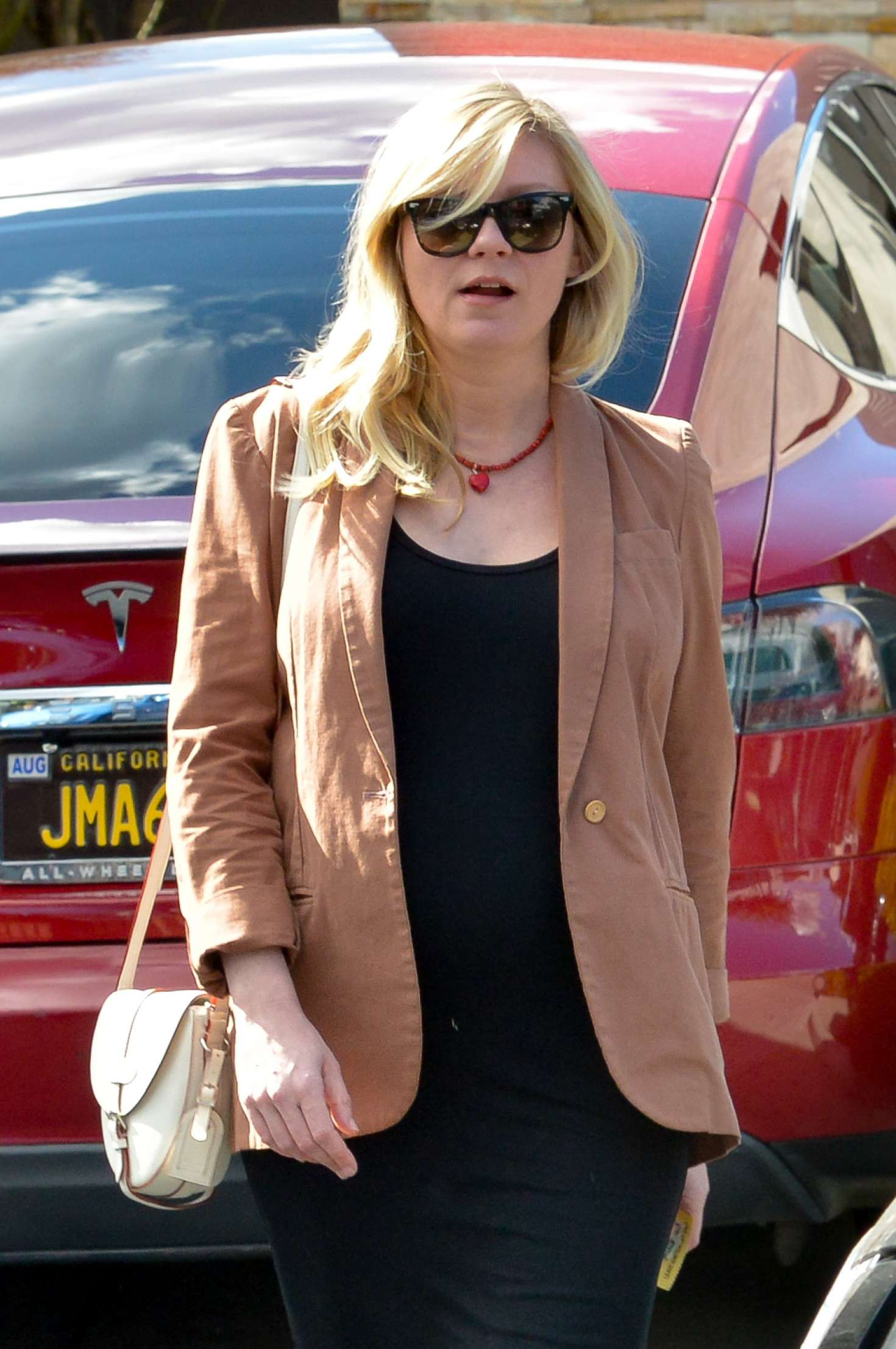 Kirsten Dunst at the hair salon in West Hollywood