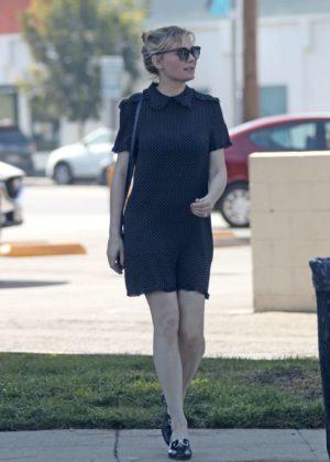 Kirsten Dunst in a black dress as she leaves Joan's on ...