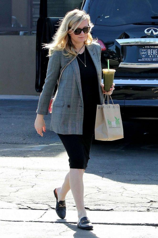 Kirsten Dunst in Black Dress out in Studio City