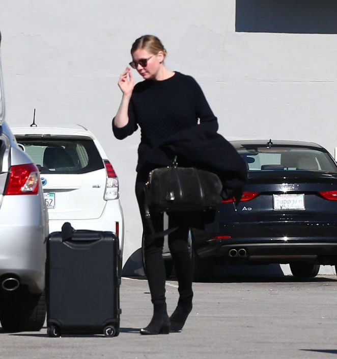 Kirsten Dunst in Black outfit out in Los Angeles