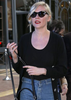 Kirsten Dunst in Jeans Out in Cannes