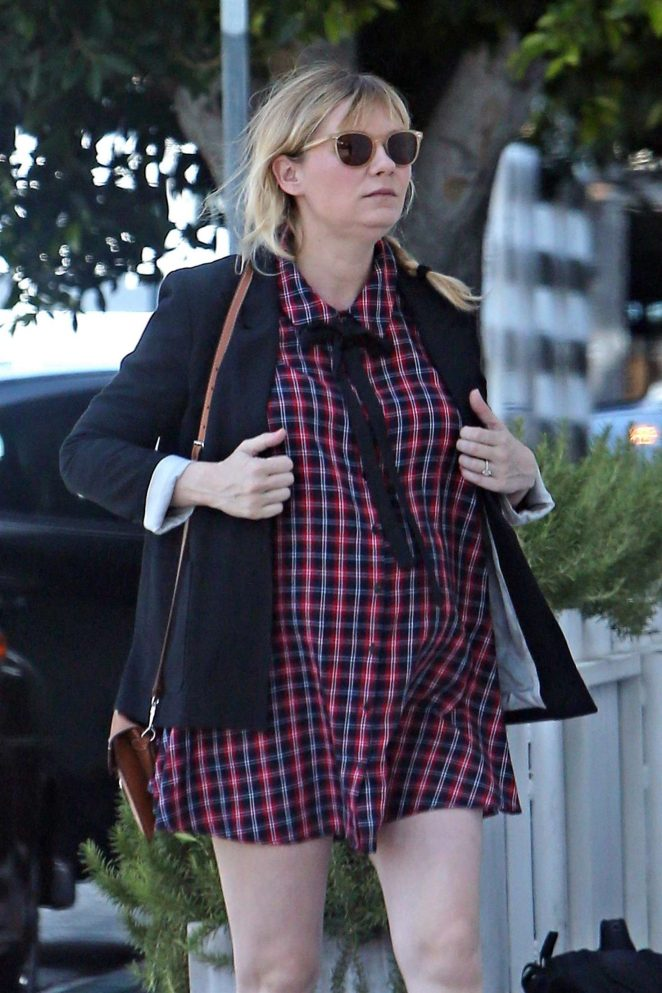 Kirsten Dunst in Mini Dress - Out in Toluca Lake