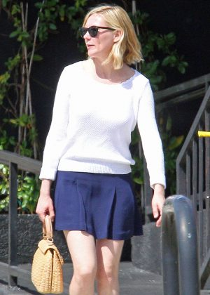 Kirsten Dunst in Mini Skirt Out in Los Angeles