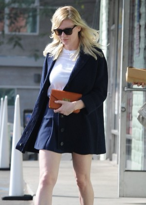 Kirsten Dunst in Mini Skirt out in West Hollywood