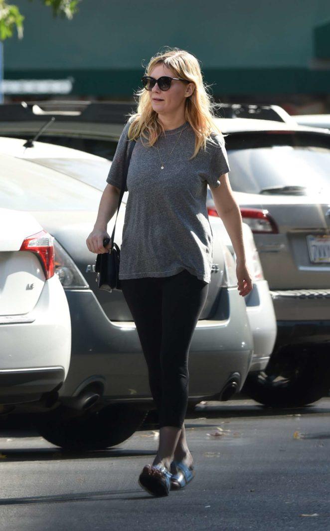 Kirsten Dunst in Tights Shopping in LA