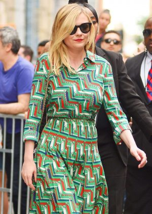 Kirsten Dunst - Leaves AOL Build Studios in New York