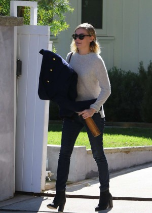 Kirsten Dunst - Leaving a friends house in Beverly Hills