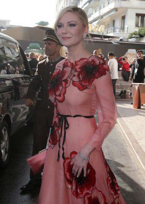 Kirsten Dunst - Leaving Hotel Martinez in Cannes