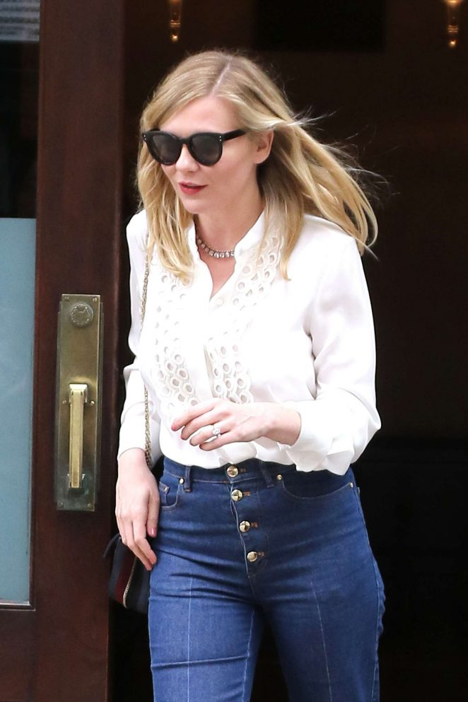 Kirsten Dunst - Leaving the Greenwich Hotel in Tribeca