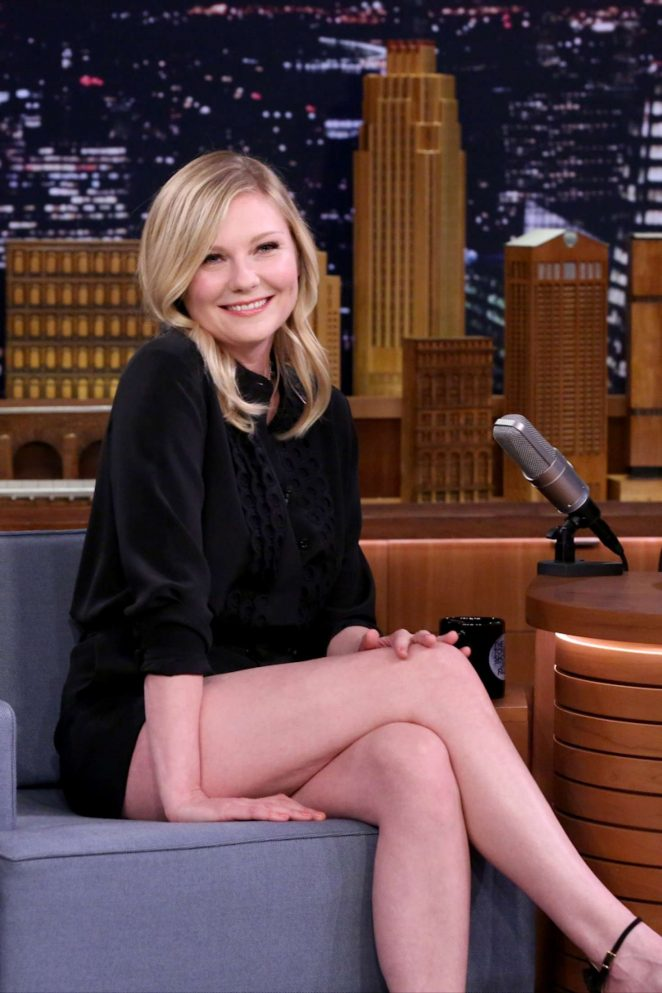 Kirsten Dunst on The Tonight Show with Jimmy Fallon in NYC
