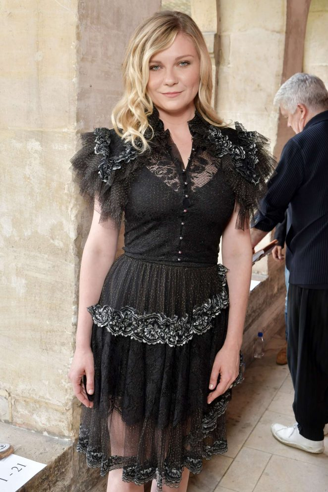 Kirsten Dunst - Rodarte Show FW 2017 at Haute Couture Fashion Week in Paris
