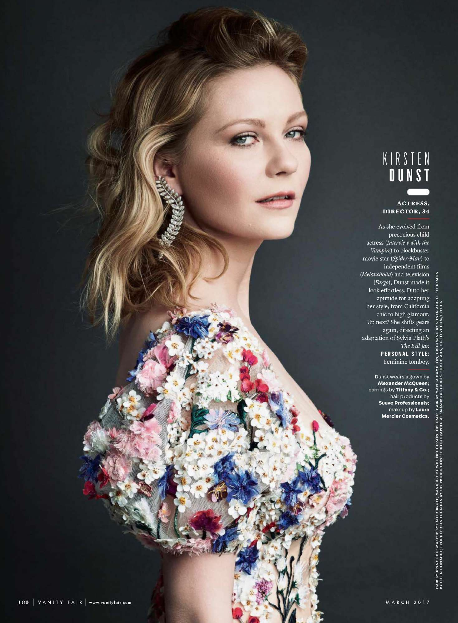Kirsten Dunst Vanity Fair Us Magazine April 2017
