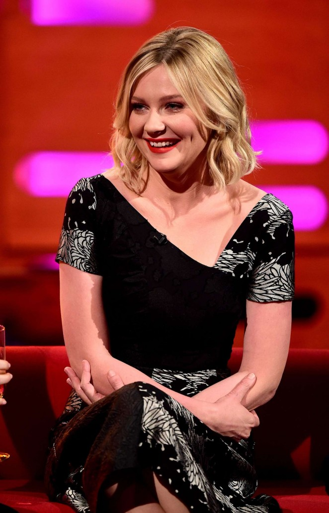 Kirsten Dunst - Visits 'The Graham Norton Show' in London