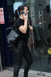 Kirsty Gallacher - Arrives at Global Offices in London