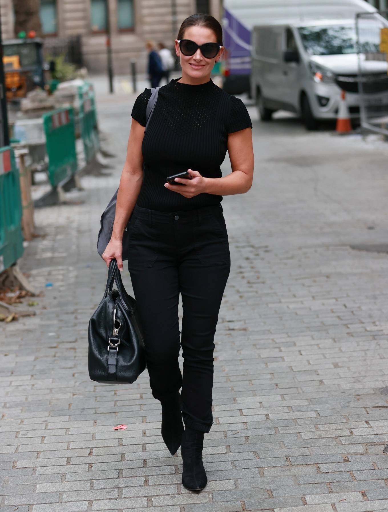 Kirsty Gallacher 2020 : Kirsty Gallacher in skin tight jeans and boots at Global Radio in London-14