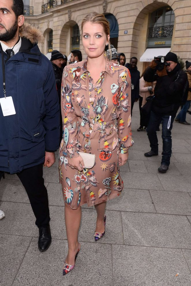 Kitty Spencer - Arrives at Schiapparelli Fashion Show 2017 in Paris