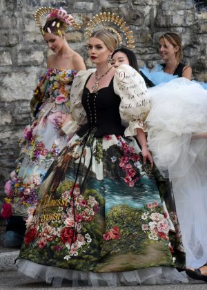 Kitty Spencer - Attends the lake Como fashion show of Dolce Gabbana in Italy