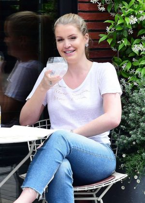 Kitty Spencer in Jeans out for lunch in Chelsea