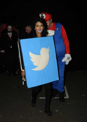 Konnie Huq - Jonathan Ross Halloween Party in London
