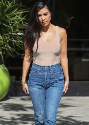 Kourtney Kardashian after some family business in Westlake
