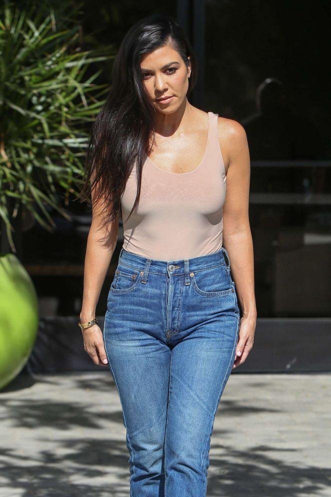 Kourtney Kardashian after some family business in Westlake
